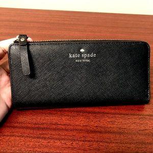 Kate Spade Black Continental Wallet Polka dot